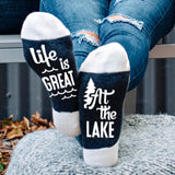 Life Is Great At The Lake Lumberjack Socks - Sock Dirty To Me