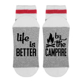 Life Is Better By The Campfire Lumberjack Socks - Sock Dirty To Me