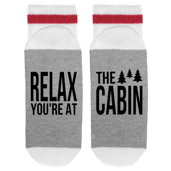 Relax You're At The Cabin Lumberjack Socks - Sock Dirty To Me