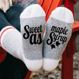 Sweet As Maple Syrup Lumberjack Socks - Sock Dirty To Me