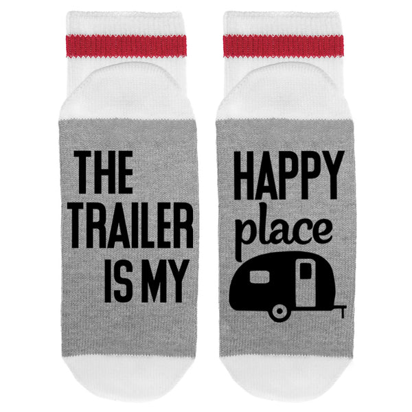 The Trailer Is My Happy Place Lumberjack Socks - Sock Dirty To Me