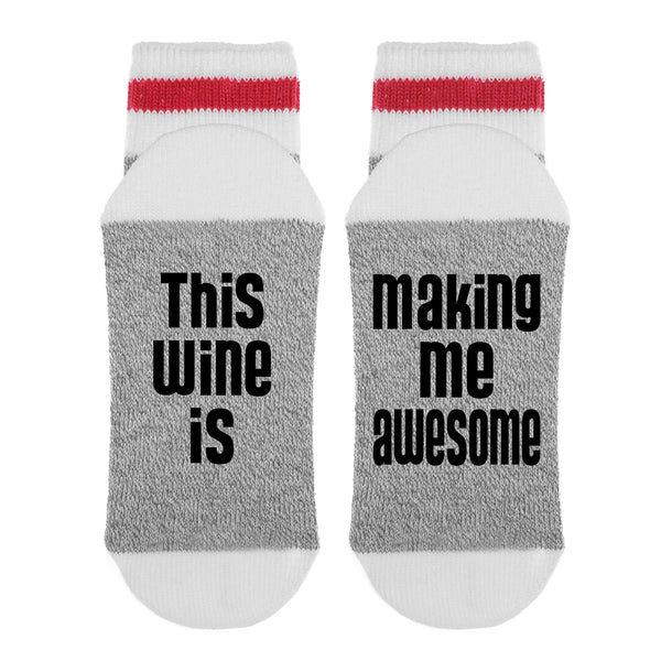 This Wine Is Making Me Awesome Lumberjack Socks - Sock Dirty To Me