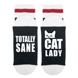 Totally Sane Cat Lady Lumberjack Socks - Sock Dirty To Me