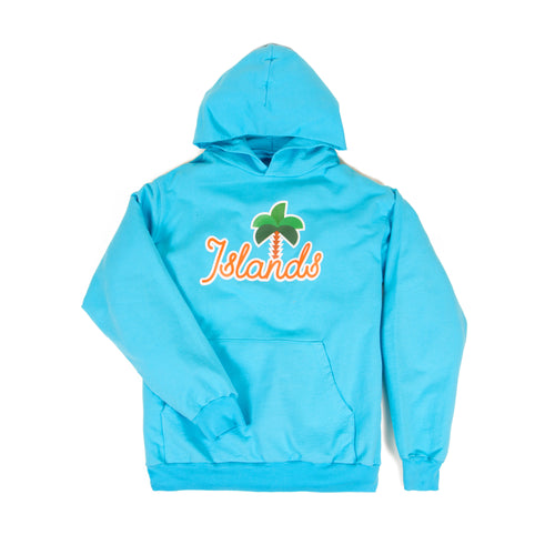 Islands Hoodie Pacific Ocean Blue