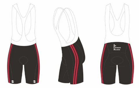 "RED PERFORMANCE PRO ""Y FRONT"" BIB SHORTS WOMEN"