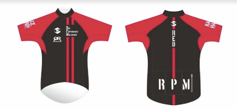 RED PERFORMANCE PRO CYCLING JERSEY MEN