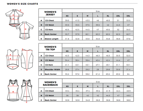 Milly Size Chart