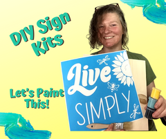 Let's Paint This Live Simply DIY Sign painting kiet