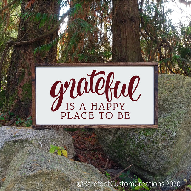 Farmhouse Grateful Rustic wood sign