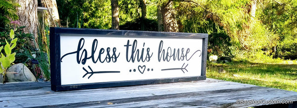 Bless this House Modern, Rustic, Farmhouse, Cottage, Wood sign