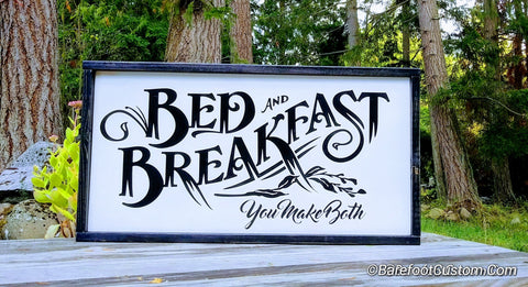 bed and breakfast sign, farmhouse decor, farmhouse sign
