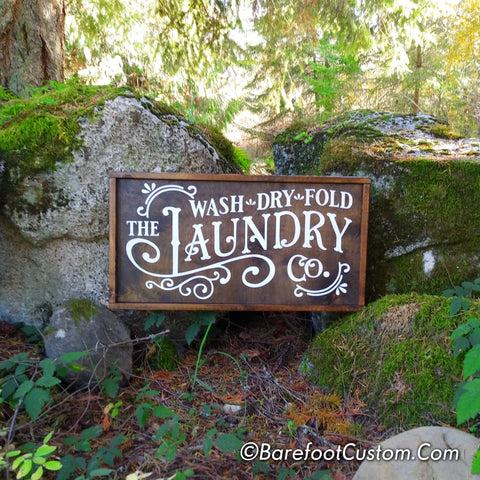 laundry Vintage sign | rustic wood sign | farmhouse decor | decor accessories