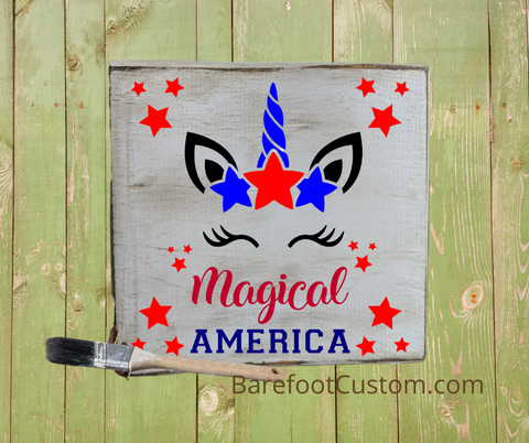 Magical America Red white blue Unicorn Kids DIY Kit