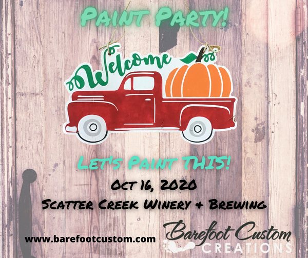 Oct 16, 2020 Wooden Signs and Wine at Scatter Creek Winery & Brewing