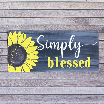 Simply Blessed Sign for Painting Class in person or virtual party