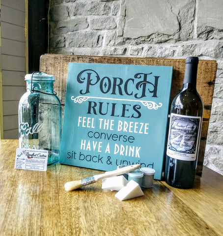 Have a social with the diy sign painting kit