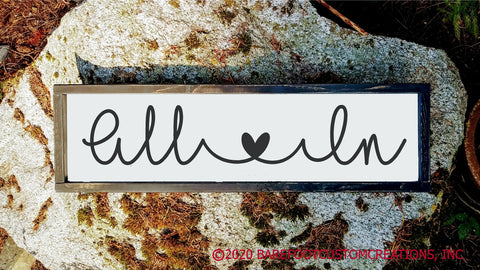 All In Couple Family Rustic Farmhouse Cottage Wood sign
