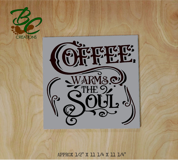 Coffee Warms the Soul DIY wood sign painting craft kit