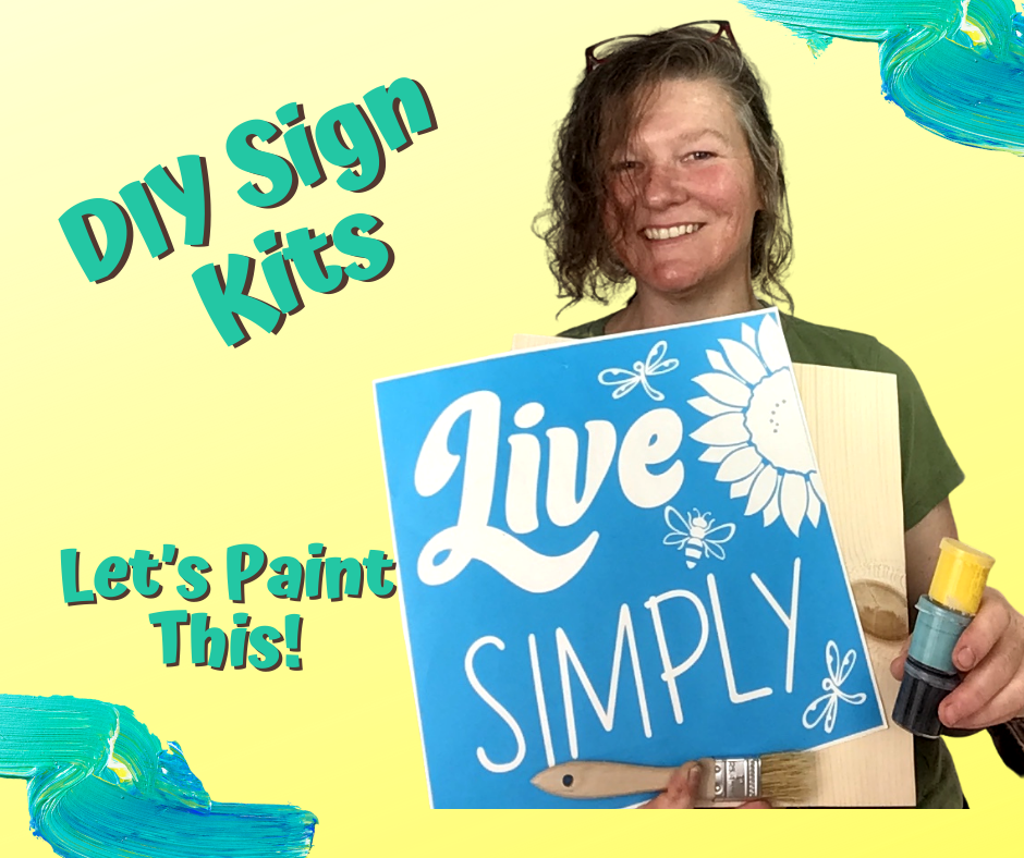 Live Simply Diy Sign Painting Art Kit