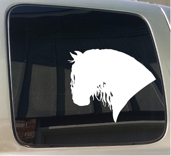 Friesian Drum Draft Gypsy Horse Custom Window Decal Sticker