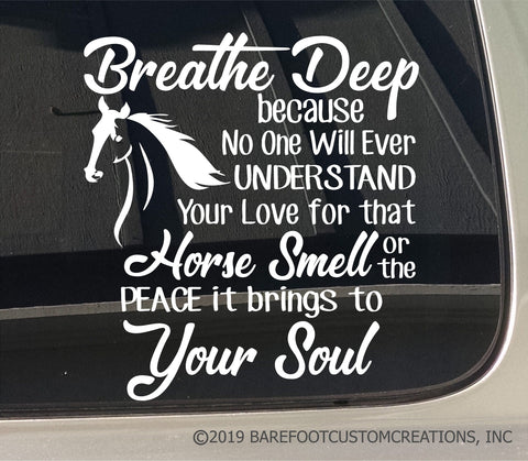horse sticker, horse decal, horse soul, breathe horse