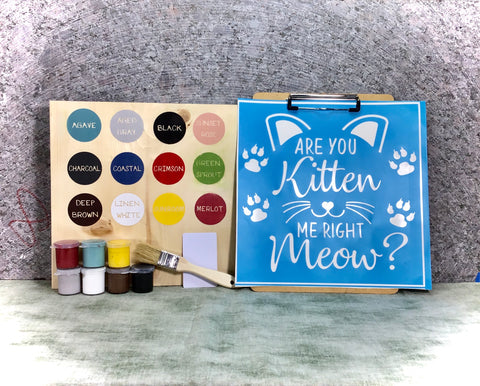 Kitten meow DIY sign painting kit