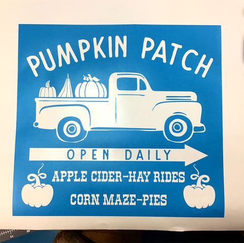 Pumpkin patch red truck DIY Sign Painting Kit