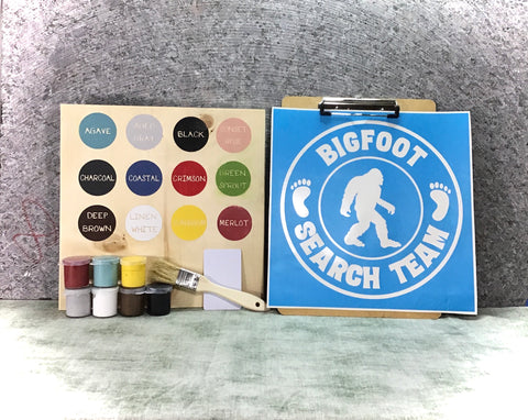 Bigfoot Sasquatch Pacific Northwest DIY sign painting kit