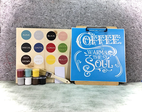 Coffee DIY sign painting kit