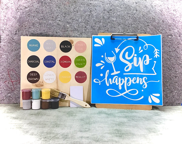 SEP happens wine DIY sign painting kit