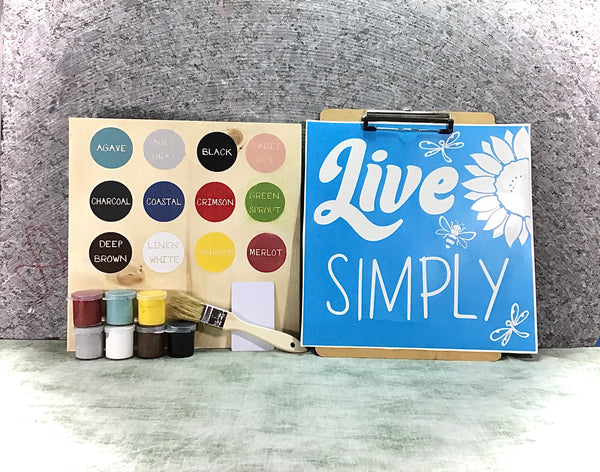 Live simply DIY sign painting kit
