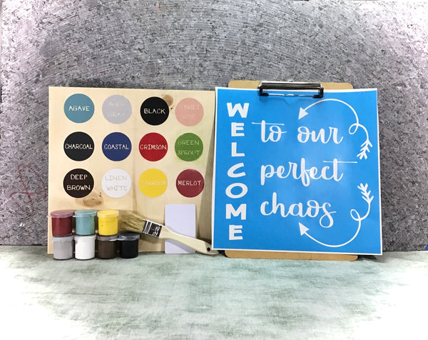 Welcome DIY wood sign painting kit