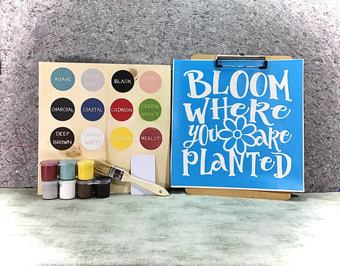 Bloom where you're planted DIY Sign painting kit