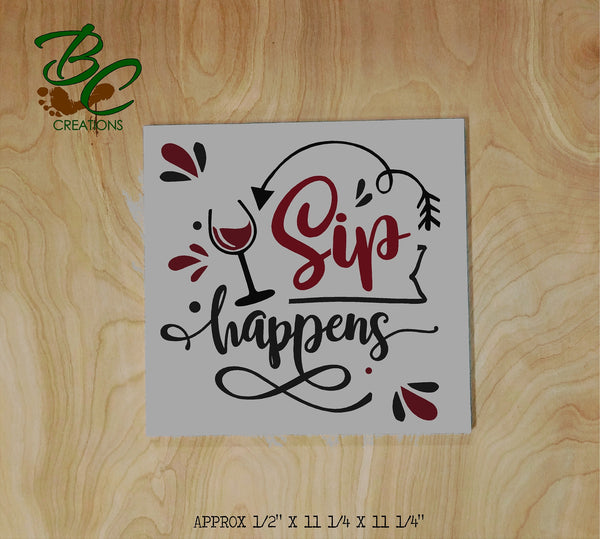sip happens DIY Painting Kit, All supplies included to create your own wood painted sign at home