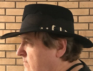 Dad wearing his brand new Walkabout Hat