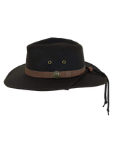 Kodiak all weather Oilskin Canvas Hat / chinstrap. Outback Favourite - The Walkabout Company