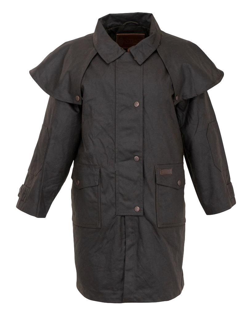 Youth. Kids Australian Riding Coat, Waterproof Oilcloth Duster Close Out Stock