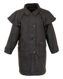Youth. Kids Australian Riding Coat, Waterproof Oilcloth Duster Close Out Stock XS Only - The Walkabout Company