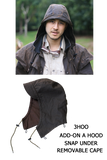 Oilcloth Waterproof Hood to Fit Kakadu 3 in 1 Duster - The Walkabout Company