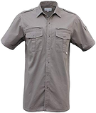 Walkabout/Foxfire Short Sleeve Safari/photographer Shirt, Zipper pocket behind chest.