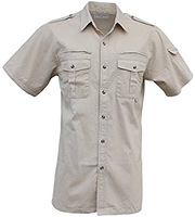 Walkabout/Foxfire Short Sleeve Safari/photographer Shirt, Zipper pocket behind chest. - The Walkabout Company