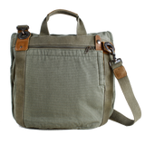 Satchel Bag in Tobacco - Gravel Canvas - The Walkabout Company