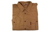 Ruggedwear Eland Long Sleeve Khaki Premium Safari Shirt. 7.5oz We are proudly South African - The Walkabout Company