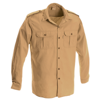 Ruggedwear Eland Long Sleeve Khaki Bushveld Rangers Safari Shirt. 7.5oz We are proudly South African - The Walkabout Company