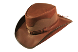 Buffalo Nickle Western Leather Mesh Hat. 100% Made in USA Born Freedom Proud - The Walkabout Company