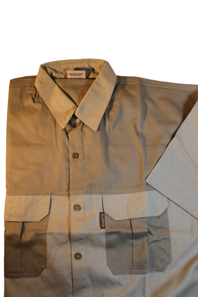 Serengeti Two Tone Guide/Safari Shirt Short Sleeve. 100% Premium Cotton made in South Africa - The Walkabout Company