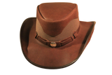 Buffalo Nickel Oiled Leather Hat. 100% Made in USA Born Proud - The Walkabout Company