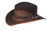 Medium Custom Leather Mesh Hat of the Week. Very Limited Stock. Price Reduced - The Walkabout Company