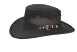 Stampede Canvas by Walkabout. Leather Trim/Buckle. Canvas Brim & Crown