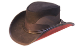 Med/Large Custom Leather Mesh Hat of the Week. Limited Stock Price Reduced - The Walkabout Company